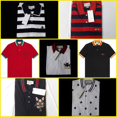 aec5ad60d83388 GUCCI MEN STRIPED Polo Shirt Size XL Red Navy Striped Polo -  170.00 ...