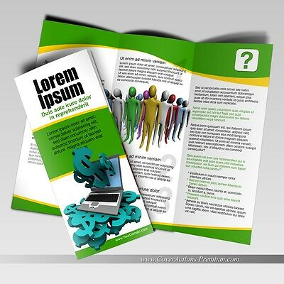 """100 Tri-Fold Glossy Brochures / FULL COLOR with Exceptional Quality / 8.5"""" X 11"""""""