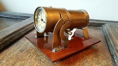 1910 Antique Edwardian Eveready Shadow Ceiling Projection Clock - Steampunk