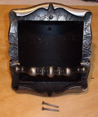 Amerock Carriage House Silver Recessed Soap Dish Holder with Screws Ships Free