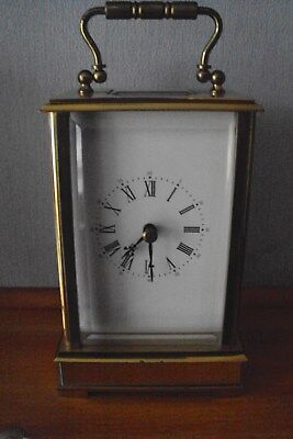 Vintage Rapport Of London 8 Day Brass Carriage Clock With Key - Working Order