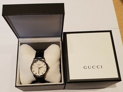 4ce14fd51be Gucci Gents G-Timeless Automatic Stainless Steel Silver Dial Watch YA126468