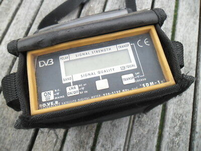 USED ROVER Satellite Sat Meter + Charger cable Sky Tv FREE UK POSTAGE