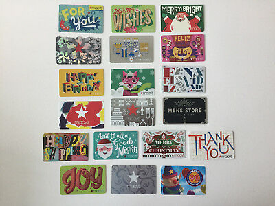 19 MACY'S Gift Cards Set  COLLECTIBLE NO VALUE