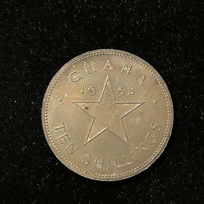 1958 10 SHILLING - GHANA - INDEPENDENCE OF GHANA - PROOF - SILVER - Lot#A612