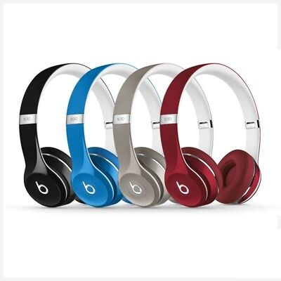 Genuine UK Dr. Dre Beats Solo 2 Headphones Luxe Edition Black Blue Red Silver