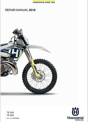 Husqvarna TE 250i - 300i Repair Manual 2018 -2019