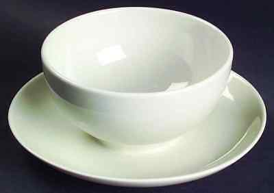 Iroquois Russel Wright CASUAL WHITE Gravy Boat & Underplate 1801028