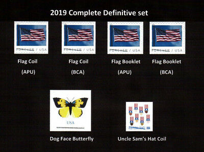 2019 Basic Definitive year set (Flags, etc..) - MNH