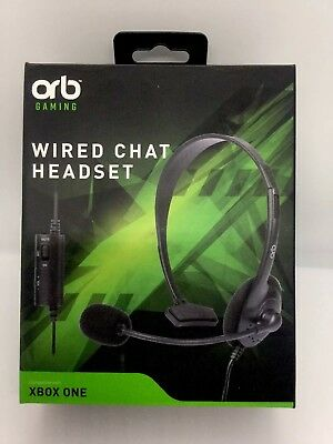 XBOX ONE ORB Wired Chat Headset for XBOX One - NEW. UK Stock. Next Day Dispatch