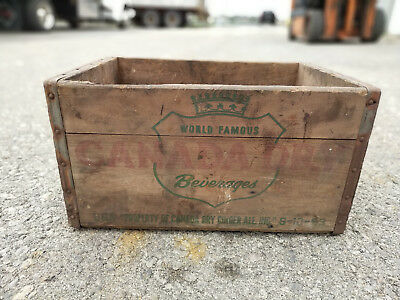 Canada Dry Ginger Ale Wooden Crate