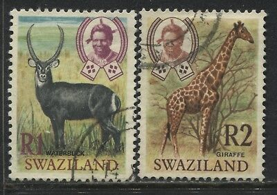 Swaziland 1 rand and 2 rands used