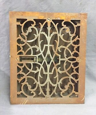 Antique Cast Iron Decorative Heat Grate Floor Register 8X10 Vintage Old 28-19D