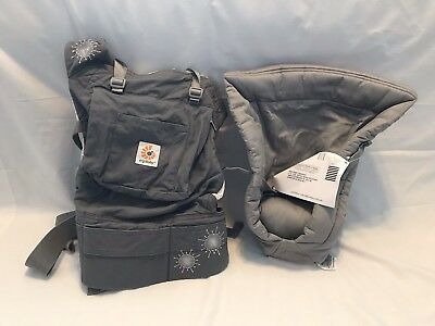ERGOBABY 4-POSITION 360 Baby Carrier Brown Blue Canvas Gray Beige ...