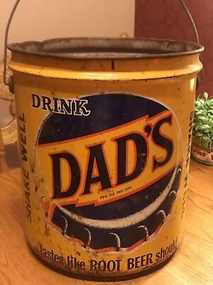 Rare Vintage Dads Root Beer 5gal. Concentrate  Container