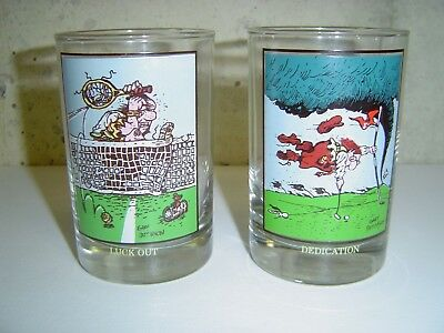 Vintage Arby's 1982 Collectors Series Glasses set of 2