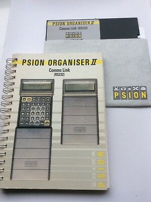 Psion II Comms Link software and manual.