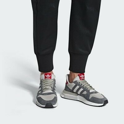 ADIDAS ORIGINALS ZX 500 RM - Boost - UK 10 - Grey - Red - White ... cfcbc2de1