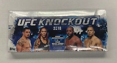 2018 Topps UFC Knockout Sealed Factory Hobby Box !!!