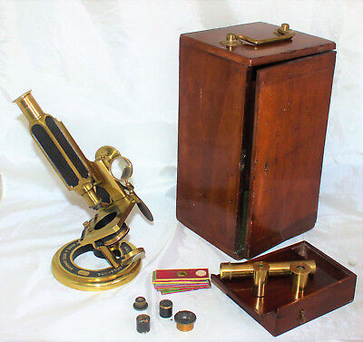 Fine Smith, Beck & Beck Universal Microscope with Accessories & Case 1864