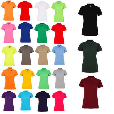 95bc6dd4 Womens Asquith & Fox Short Sleeve Classic Fit Performance Blend Polo Size  XS-2XL