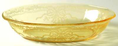 "Fostoria JUNE TOPAZ YELLOW 9 1/4"" Oval Baker 5652788"