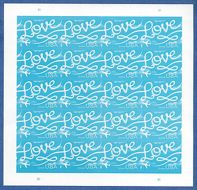 US SC#5155 Love Skywriting Stamp Full Pane of 20 stamps 2017