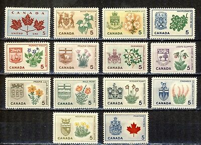 1964 #417-29A Provincial Flowers & Coats-Of-Arms Vfnh Complete Set