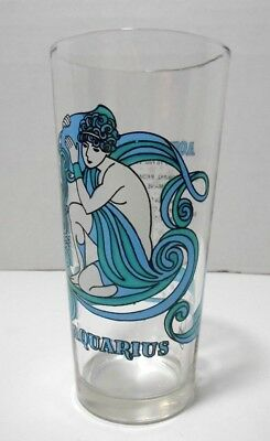 Vintage 1976 AQUARIUS Arby's Glass Tumbler Beverly Zodiac Horoscope