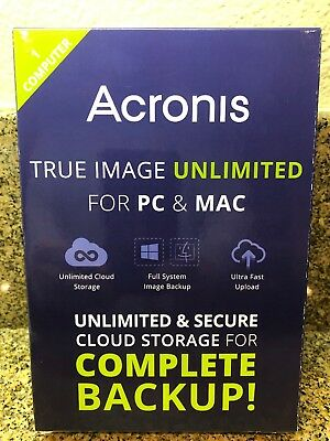 New/sealed -  Acronis True Image Unlimited for PC and Mac - 1 Computer free ship