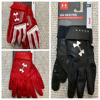 NWT! Youth Under Armour UA Adult Heater Batting Gloves 2018 Baseball Softball