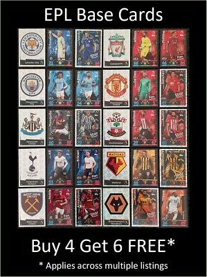 Match Attax 2018/19 EPL Base Cards (L to Z) Buy 5 Get 10 FREE