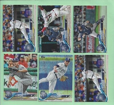 2018 Topps Factory set Sparkle Foil parallel #102 Wil Myers #62/190