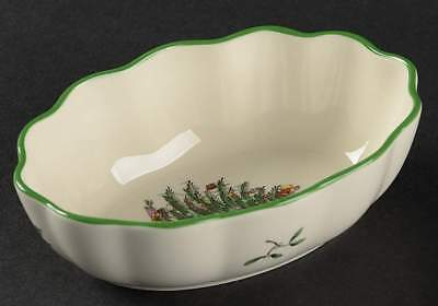 Spode CHRISTMAS TREE Fluted Oval Dish 10429343