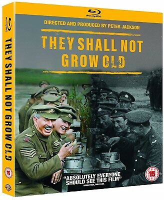 THEY SHALL NOT GROW OLD (2018) Peter Jackson WWII Documentary NEW RgFree BLU-RAY