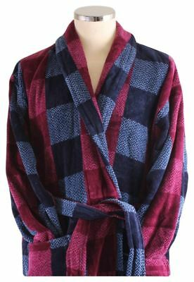 Bown of London Mens Chester Check Dressing Gown - Blue/Black/Maroon
