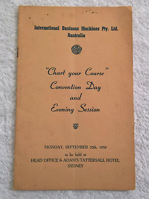 Rare 1939 IBM Australia Convention Conference Program Guide Book collectors