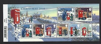 2018 Gb Qe2 Christmas Issue Commemorative Stamp Miniature Sheet With Barcode Mnh