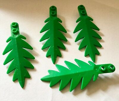 Spares Green leaves. LEGO 2 x large palm tree leaves Palmtree parts