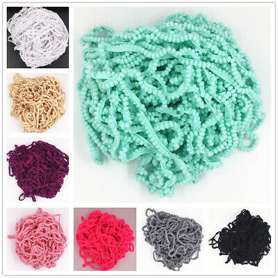 5 yards 10mm Width Pom Pom Trim Ball Fringe Ribbon DIY Sewing Accessory Lace