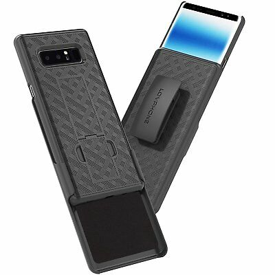 Samsung Galaxy Note 8 Belt Clip Case: LOVPHONE Secure Holster Shell & Kic... New