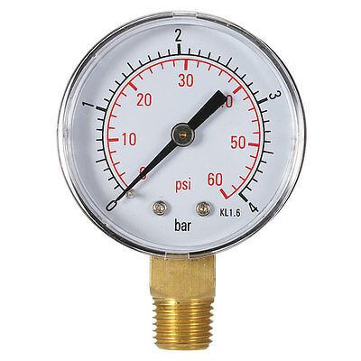 Practical Pool Spa Filter Water Pressure Gauge Mini 0-60 PSI 0-4 Bar TS-50 CZ&@