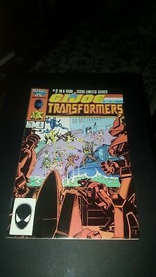 G I Joe And The Transformers #2 1987 Vf+/nm-