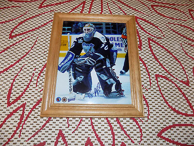 Bill Ranford Tampa Bay Lightning, Nhl Hockey Autographed 8 X 11 Photo With Frame