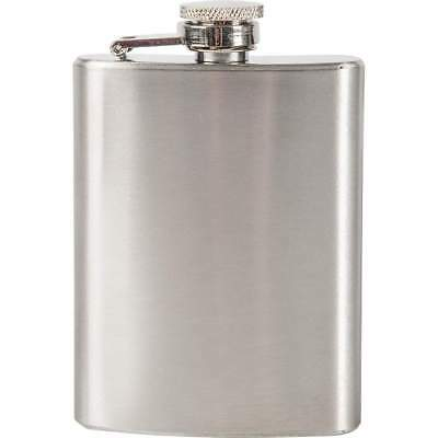 4oz Tall Thin Sturdy Flask 201 Stainless Steel Screw Cap Hip Pocket Carry Liquor
