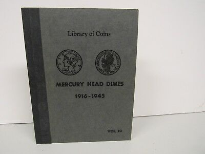 Library of Coins-Mercury Head Dimes-1916-1945-Vol.10-Book Only-No Coins