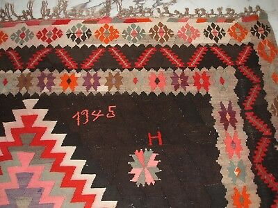 Old Tribal Turkey Kilim Rug Türkischer Kelim Nomadenteppich Alfombra Tapetto