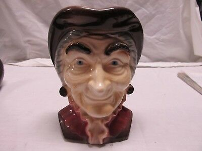 "ROYAL COPLEY COLONIAL MAN WALL POCKET HEAD VASE...LQQK! Vintage 8"" Tall"