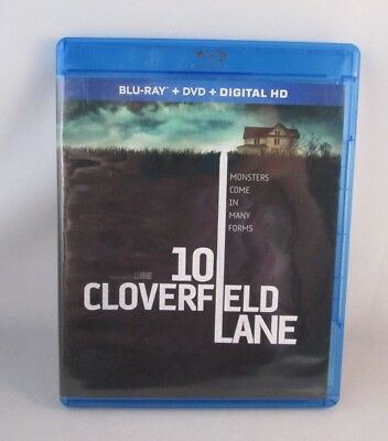 10 Cloverfield Lane Blu-ray/DVD, 2016, 2-Disc Set) In Very Good Cond