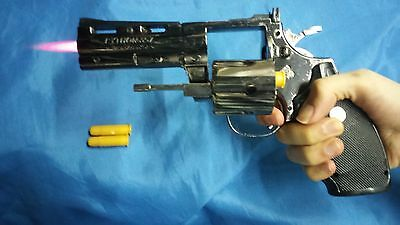 Python Revolver Lighter toy 357 magnum party police prop windproof Refillable